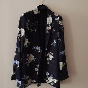 Zara Woman Floral Print Blazer made in Spain